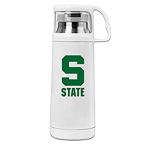 Beauty Michigan S Logo State University Water Bottle With A Handle Vacuum Insulated Cup For Hot And Cold Drinks Coffee,Tea Travel Thermal Mug,14oz (Digimon Travel Mug)