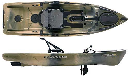 - Native Watercraft 2019 Titan Propel 10.5 Pedal Fishing Kayak (Hidden Oak)