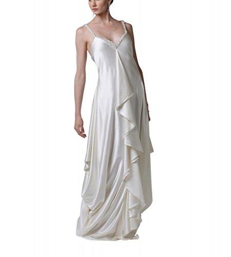 BRIDE Hochzeitskleider GEORGE Gewebe Brautkleider elastische Elfenbein Taille Reich Satin Line Strap A bodenlangen PxxBwS