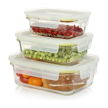 Amazon Com Komax Oven Safe Glass Food Containers