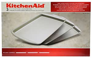 Kitchenaid 3 Pack Heavy Gauge Cookie Pans 11 In X 17 In