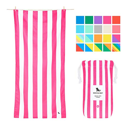 Dock & Bay Quick Dry Towel for Beach - Phi Phi Pink, Extra Large (200x90cm, 78x35) - Sand Proof Beach mat, Fast Drying Towels