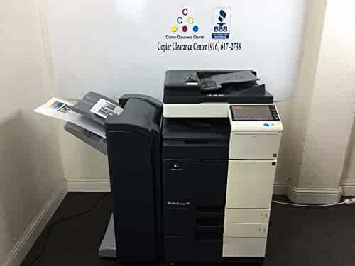 Konica Minolta Bizhub C224 Copier Printer Scanner Finisher Low 89k w/ 7k Color