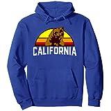 Unisex Vintage California Bear Hoodie Large Royal Blue