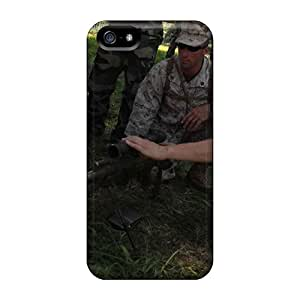 Perfect Cases For Iphone 5/5s/ Anti-scratch Protector Cases (u S Marine Corps Sgt Jeremy Toteno Learns About A French Weapons System From A)
