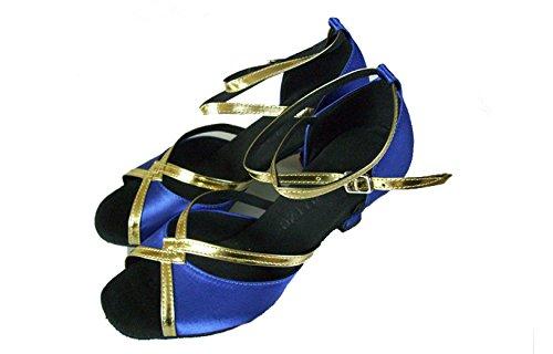 Scarpe Delle Dance Latino Ballroom Satin Della blue Ragazza Professionista altri Sandali Shoe Salsa Donne Colori Superiore 40 Med rprIBq1P