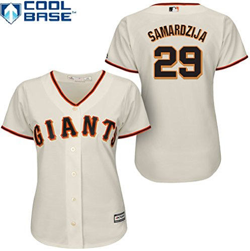 Jeff Samardzija San Francisco Giants #29 MLB Women's Cool Base Home Jersey (Medium)