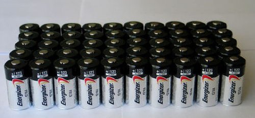 50 pcs Energizer Lithium CR123A 3V Lithium Battery - for camera, flashlight, etc.