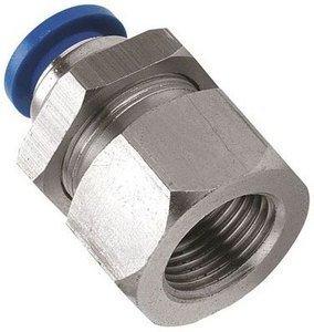 1/4Bsp to 12mm Bulkhead Push in Fitting (B138) Pneumax