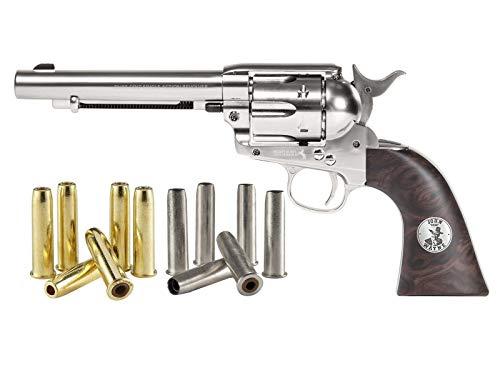 Colt Dual Ammo Duke SAA Peacemaker CO2 Revolver Kit, Nickel air Pistol