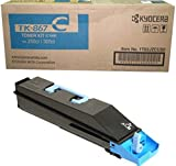Kyocera 1T02JZCUS0 Model TK-867C Cyan Toner Cartridge For use with Kyocera TASKalfa 250ci and 300ci Color Multifunction Laser Printers, Up to 12000 Pages Yield at 5% Average Coverage