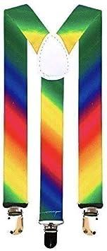 ROCK Arco Iris Orgullo Gay Set: Corbata Pajarita Tirantes Bandera Cordones Bigote - Tirantes: Amazon.es: Juguetes y juegos