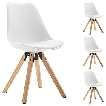 idimex lot de 4 chaises de salle manger tyson style scandinave design nordique avec pitement - Siege Scandinave
