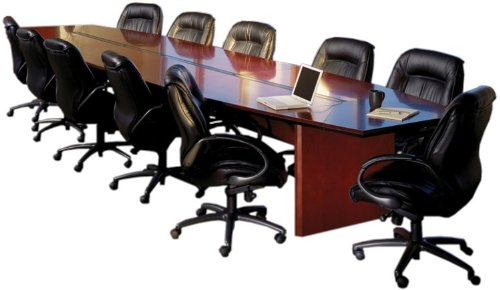 Mayline CMT24 24' Corsica Boat-Shaped Conference Table Finish: Mahogany - Mayline Corsica Boat