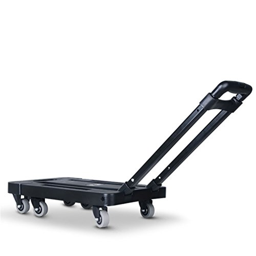 ZJⓇ Hand Cart Trolley Van Mini Trailer Hand Truck Small Cart Pull The Truck Folding Portable Trolley Household Microtake && (Color : A)