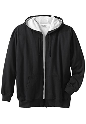 Boulder Creek Men's Big & Tall Thermal Lined Full-Zip Hoodie, Black Big-2Xl (Thermal Hoody Lined)