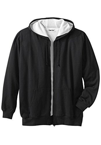 Boulder Creek Men's Big & Tall Thermal Lined Full-Zip Hoodie, Black Big-2Xl (Hoody Thermal Lined)