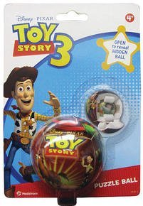 Toy Story 3 Puzzle Ball Open to Reveal Hidden Ball Hedstrom D393632B