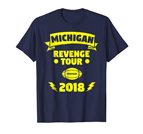 - Michigan Revenge Tour 2018 Football Supporter T-Shirt