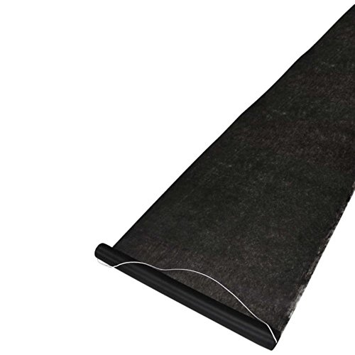 Hortense B. Hewitt Wedding Accessories Fabric Aisle Runner, 100-Feet Long, Black ()