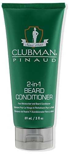 Panthenol Protein Hair Conditioner (Clubman 2-in-1 Beard Conditioner and Face Moisturizer, 3 oz)