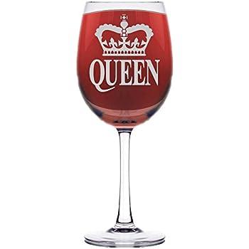 hallmark wine glass born to be queen wine glasses. Black Bedroom Furniture Sets. Home Design Ideas