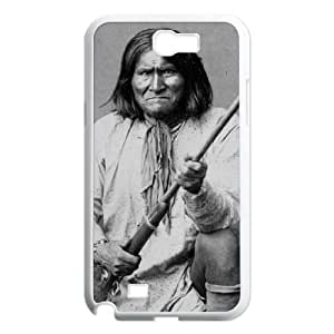 Geronimo Kneeling With Rifle 1887 Samsung Galaxy N2 7100 Cell Phone Case White Phone Accessories VG_990617