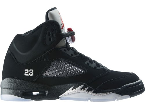 cc6be79d7550 Nike Air Jordan 5 Retro (GS) Big Kids Basketball Shoes [440888-010] Black/Varsity  Red-Metallic Silver Boys Shoes 440888-010-6.5: Amazon.ca: Shoes & Handbags