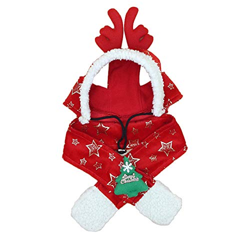 alextreme Pet Scarf, Pet Dog Scarf Hat Set Detachable Cute Christmas Style Warm Gift Fashion for Winter -
