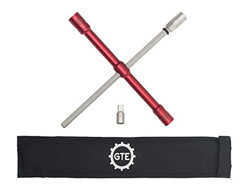 GTE Tools - LugStrong 26' Universal Compact Lug Wrench Set, Super-Strong Tire Iron & Lug Nut Remover - 2X More Torque!  Never Get Stuck on The Road Again!