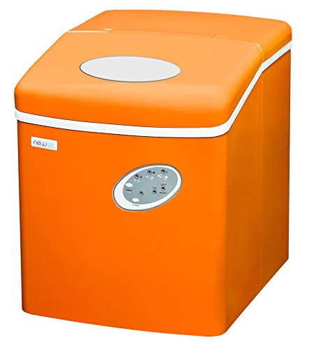 NewAir Portable Ice Maker 28 lb. Daily, Countertop Compact Design, 3 Size Bullet Shaped Ice, AI-100VO, Orange ()