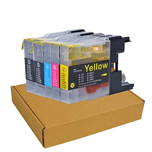 5 Pack Compatible Ink Cartridge Replacement for Brother LC75 LC71XL High Yield Ink To Use With Brother MFC-J6510DW MFC-J6710DW MFC-J6910DW MFC-J280W MFC-J425W (2 Black, 1 Cyan, 1 Magenta, 1 Yellow)