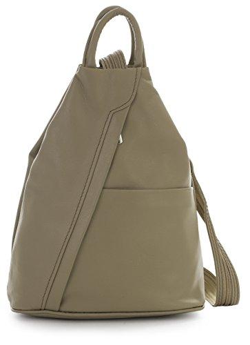 Rucksack Leather Medium Small Duffle Convertible Alex Taupe Bag Liatalia Italian Soft Strap Unisex Backpack wtq8g8