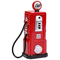 StealStreet SS-CG-62519, 6.25 Inch Ceramic Painted Red Old Fashion Gas Pump Dinero Piggy Bank