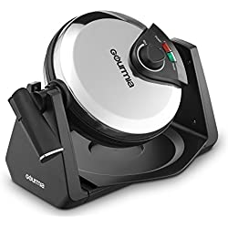 Gourmia GWM460 Stainless Steel Belgian Waffle Maker, Fast & Easy 180 Degree Flipping, Adjustable Temperature For Fluffy & Golden Waffles, Free Recipe Book Included (Automatic)