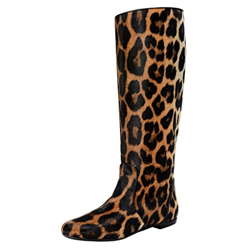 Giuseppe Zanotti Design Women's Pony Hair Leather Boots Shoes (US 11 IT 41, Multi-Color)
