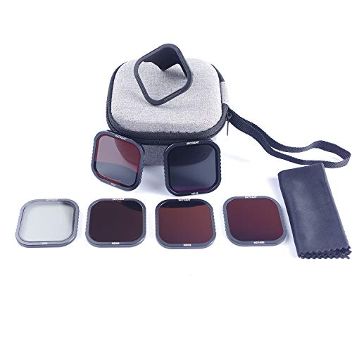 Skyreat ND Filters for GoPro Hero 8 Black 6 Pack - (CPL/ND8/ND16/ND32/ND64/ND1000),with HotSwap Magnetic Filter Base