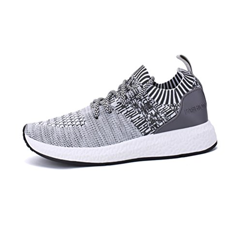 Amazon.com | Happstore Men Knit Running Sport Shoes Casual Lightweight Athletic Sneakers Breathable Cloth On Gym Walking Shoes | Track & Field & Cross ...