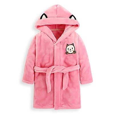 Fankeshi kids Hooded Robe Soft Fleece Bathrobe Children Pajamas Baby plush robe