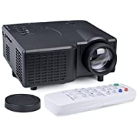Mini LED Lamp LCD Movie Projector 16:9 8-80 Display HDMI VGA USB SD Slot
