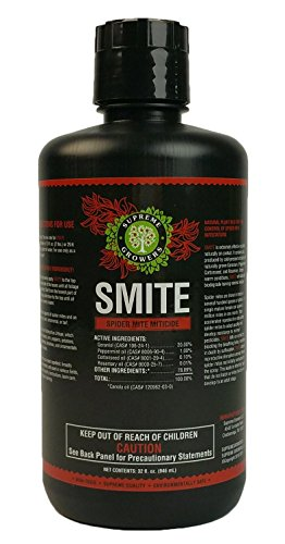 SMITE Spider Mite Killer by Supreme Growers, 100% Natural Pesticide Concentrate, Non-Toxic, Biodegradable, Organic Ingredients, Eco Friendly Pest Control, 32 oz Makes 32 Gallons Pest Control Mix