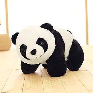 Funny Teddy Cute Panda Toy Gift Birthday Soft Stuffed Animal (White,Black) - 26 Cm