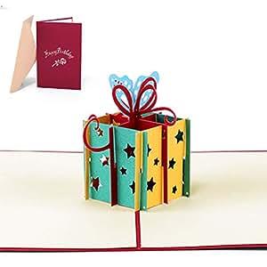 Tarjeta de Cumpleaños 3D Paper Spiritz Felicitación Cumpleaños 3D Pop up Día de San Valentín Tarjetas Cumpleaños Personalizadas Pop up Birthday Card ...