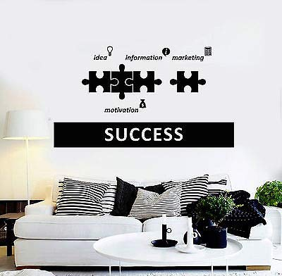 Vinyl Wall Decal Success Office Decoration Motivation Stickers 4385
