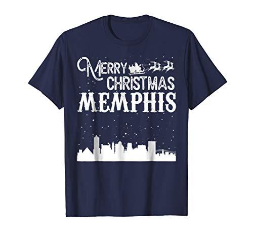 Merry Christmas Y'all Memphis City T-Shirt