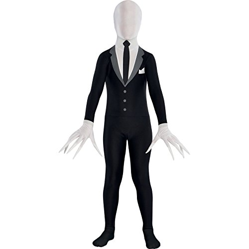 (Party City Slender Man Partysuit Halloween Costume for Teens, Small, with Double)