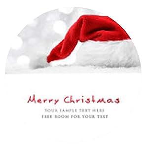 alfombrilla de ratón Sombrero de Santa en la nieve - ronda - 20cm