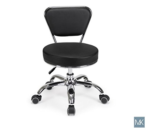 Salon Nail Pedicure Stool Pedicure Chair DAYTON BLACK Pneumatic, Adjustable, Rolling Salon Furniture Equipment