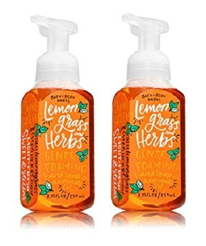 Bath and Body Works Gentle Foaming Hand Soap Lemongrass and Herbs (2-Pack) 8.75 Ounce with Avocado Oil