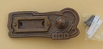Luxusgriffe Antik Messing Klingel 1 Türklingel Klingelschild Klingelplatte K89P